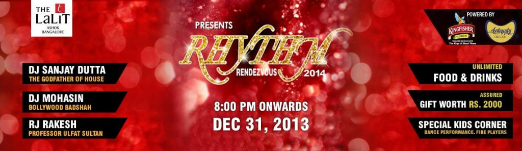 Rhythm Rendezvous 2014 - New year Party in Bangalore on December 31, 2013
