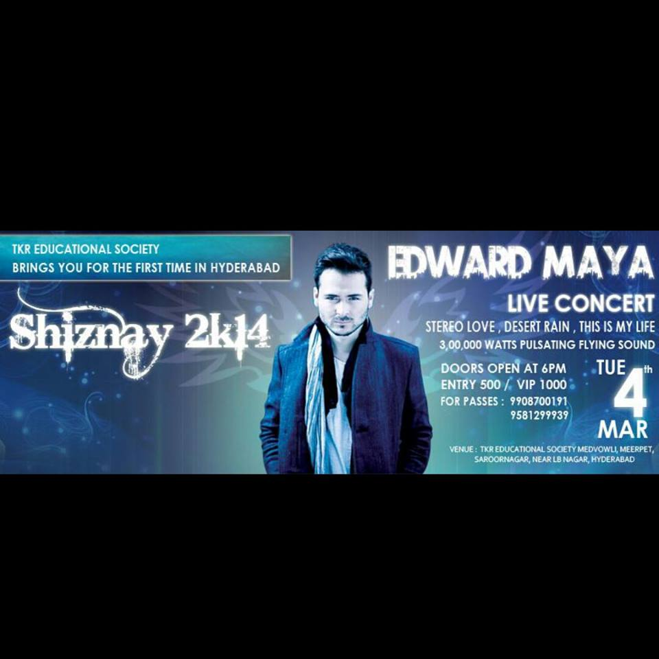 Edward Maya Live in Concert in Hyderabad on March 4, 2014