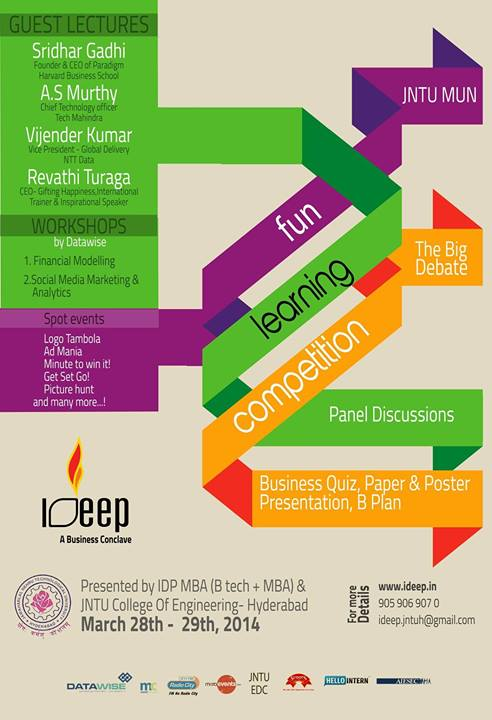 IDEEP - Management Event in Hyderabad from March 28-19, 2014