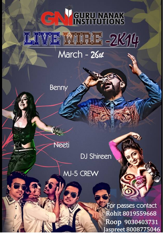 Live Wire 2K14 - Musical Night in Hyderabad on March 26, 2014