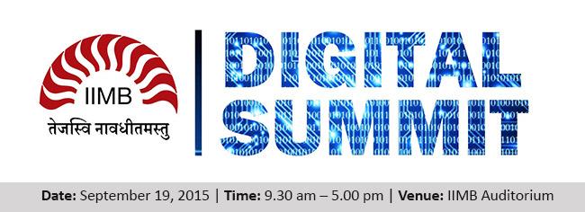IIMB Digital Summit 2015 in Bangalore on September 19, 2015