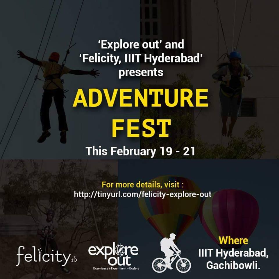 Adventure Fest in IIIT Hyderabad from February 19-21, 2016