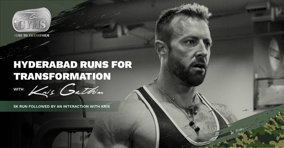 5k Run with Kris Gethin in Hyderabad on March 12, 2016