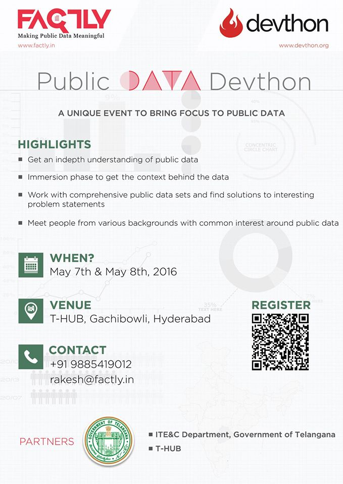 Public Data Devthon in Hyderabad from May 7-8, 2016