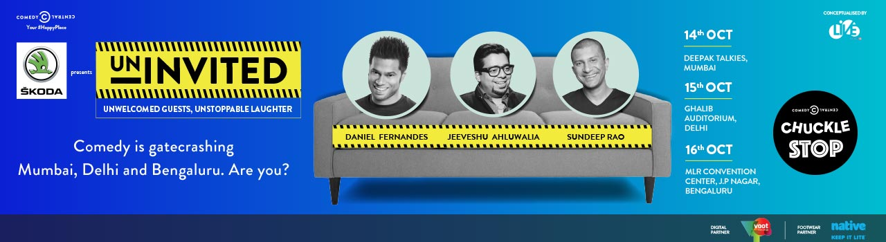 Comedy Central Chuckle Stop in Mumbai, Bangalore and Delhi from October 14-16, 2016
