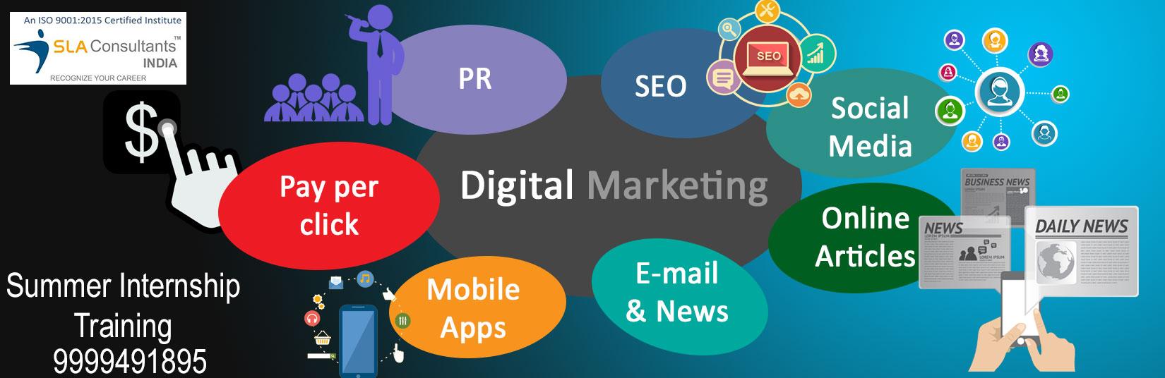 6 Months Digital Marketing Internship Training in Delhi from July 30 - September 30, 2017