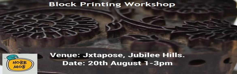 BlockPrinting Workshop in Hyderabad on August 20, 2017