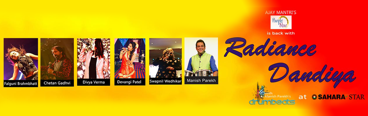 Purple Blue Events and Ideas Presents Radiance Dandiya in Mumbai from September 21-30, 2017