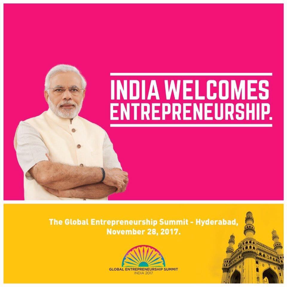 Global Entrepreneurship Summit 2017 in Hyderabad from November 28-30, 2017