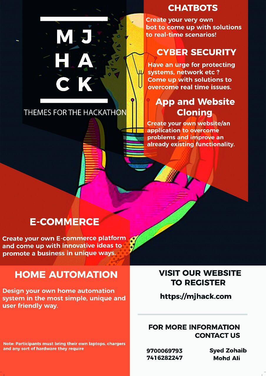 MJHack - Hackathon in Hyderabad on October 8, 2017