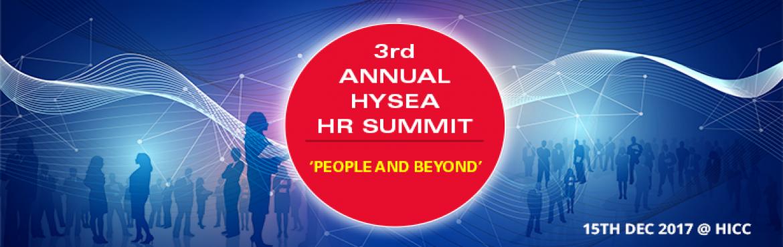 3rd Annual HYSEA HR Summit in Hyderabad on December 15, 2017