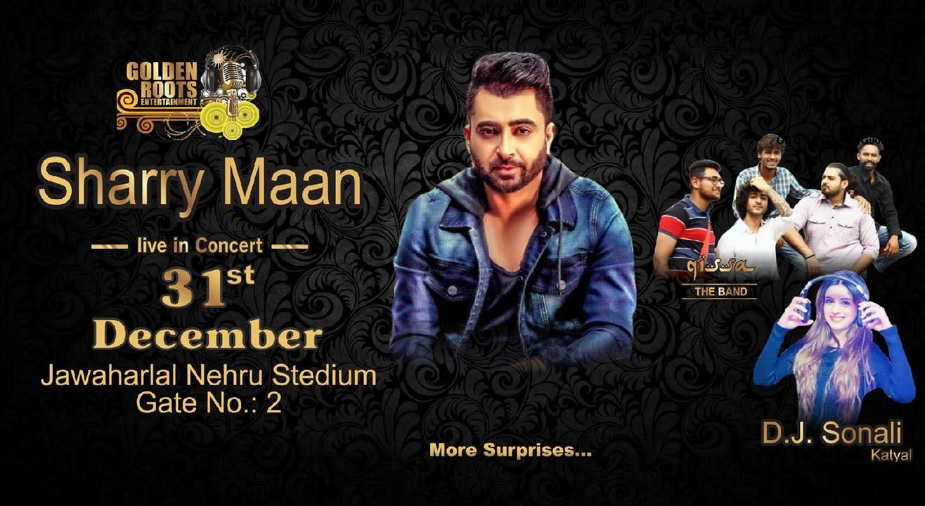 Sharry Mann Live In Concert in New Delhi on December 31, 2017