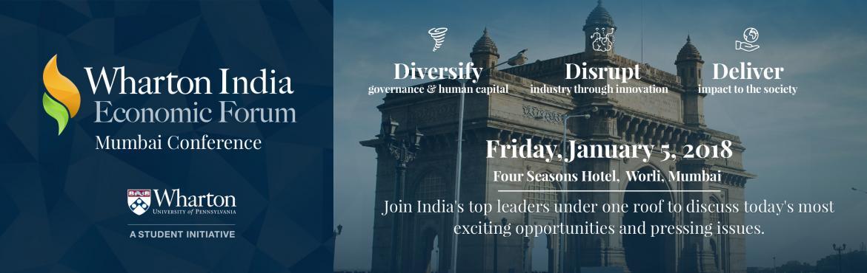 Wharton India Economic Forum - Mumbai Conference on January 5, 2018