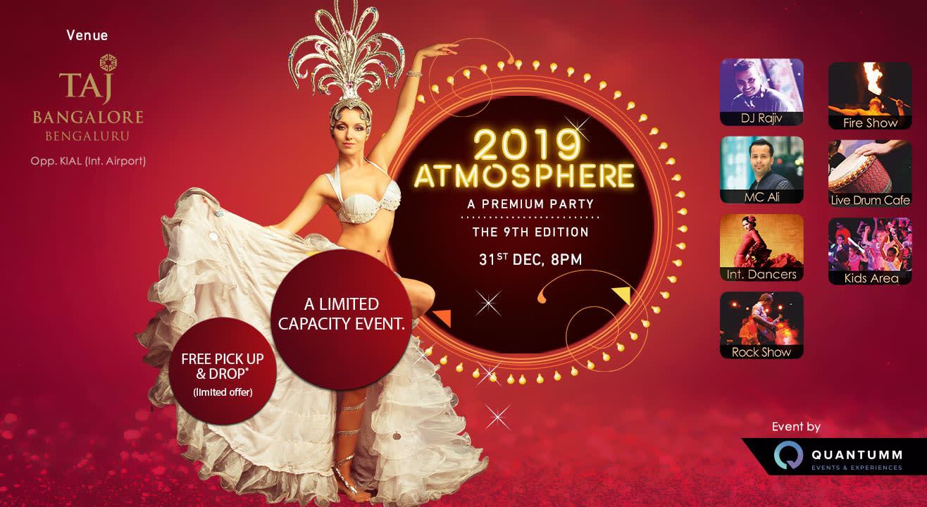 Atmosphere 2019 - New Year Eve at Taj Bangalore