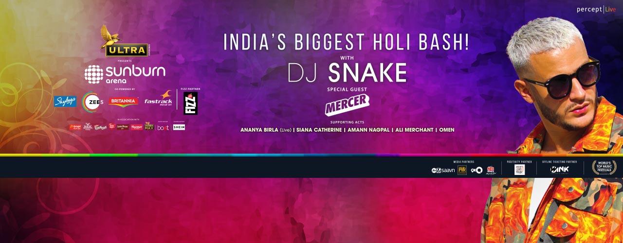 Sunburn Arena with DJ Snake (Holi Special)